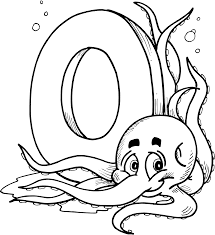 octopus alphabet coloring pages alphabet coloring pages of
