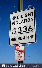 how much is a red light fine red light traffic violation sign stock photo 20219406 alamy