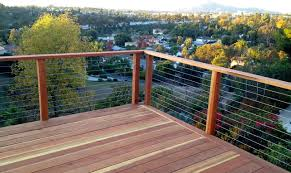 redwood deck and cable railing modern deck san diego by
