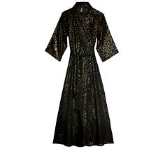play black gold robe gold print luxury nightwear designer
