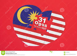 Maylasia Flag Heart Shape Malaysia Flag Jigsaw Puzzle With A Written Word 31