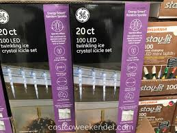 ge led icicle lights costco ge led twinkling icicle lights costco weekender