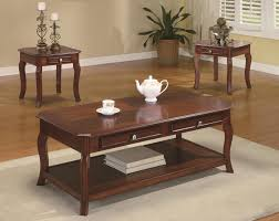 3 piece end table set coaster occasional table sets traditional 3 piece occasional table