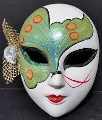 mardi gras ceramic masks gras ceramic mask ceramic wall decor painted 5 x 4