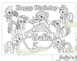 my little pony birthday coloring page my little pony printables birthday my little pony free birthday