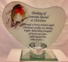 memorial tea light candle holder christmas memorial glass photo frame with verse and tea light candle