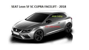 this is how the seat leon cupra facelift looks like on