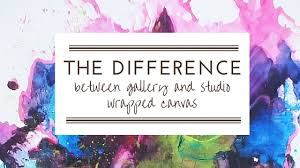 the difference between gallery and studio wrapped canvas art