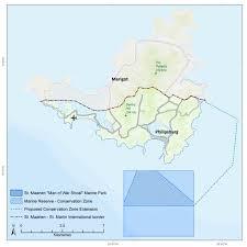 St Martin Map St Maarten Dcna