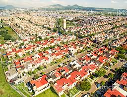 aerial view of houses in mexico stock photo 611761468 istock