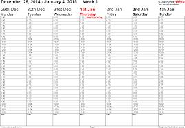 printable 2016 calendar week timetables calendar template 2017