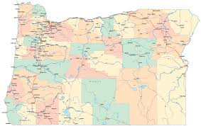 map of oregon with counties gallery of oregon maps