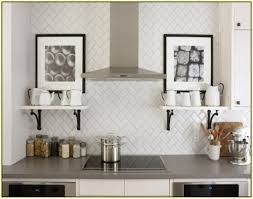 endearing modern kitchen tile backsplash with white rectangular