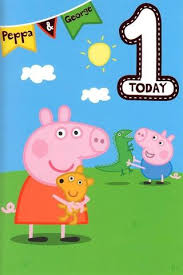 peppa pig age 1 today 1st birthday card u2013 budget gifts uk