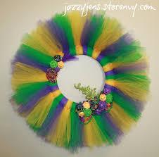 mardi gras wreaths jazzy jen s mardi gras tulle wreath large online store