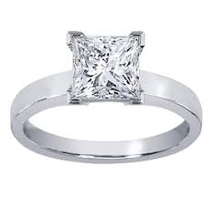 white gold princess cut engagement ring 18k white gold flat tapered princess cut engagement ring