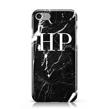 monogram initials marble white initials monogram personalised apple iphone dyefor