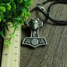 10pcs wholesale norse black dragon thor hammer pendant viking