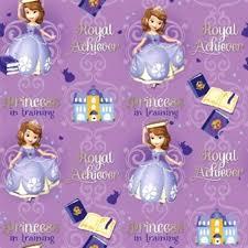 cotton fabric character fabric disney sofia princess