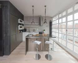 Modern Loft Furniture by Modern Attic Loft With Grey Palette In Prague Idesignarch