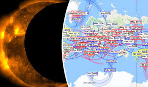 earth map uk eclipse 2017 map map of every solar eclipse across the world in