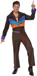 brown costume 60s 70s men s costumes hippie disco beatles