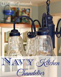 Blue Bottle Chandelier by Spray Painting A Chandelier Navy