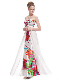 white long floral printed dress strapless floral maxi dress white