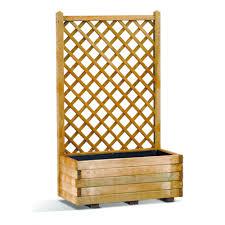 rothley basique wooden trellis planter outdoor garden planters