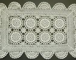 Crochet Table Runner Pattern Crochet Table Runner Etsy