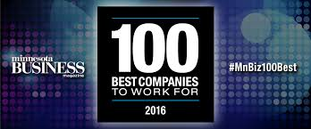 the 2016 100 best companies to work for minnesota business magazine