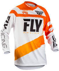 fly motocross jersey f 16 orange white jersey fly racing motocross mtb bmx