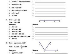 12 algebraic proofs worksheet geometry proofs related keywords