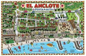 Map Of Puerto Vallarta Mexico by El Anclote Mexico Tourist Map Puerto Vallarta U2022 Mappery