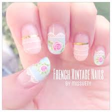 missuety french vintage nails missuety