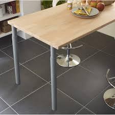 table cuisine leroy merlin pied de plan de travail cylindrique réglable métal époxy gris de