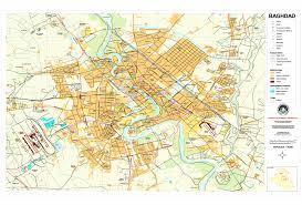 map of baghdad baghdad iraq downtown map baghdad iraq mappery