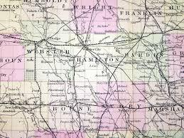 Map Of Iowa Counties Hamilton County History