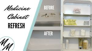How To Replace A Medicine Cabinet Mirror Diy How To Refresh A Rusted Medicine Cabinet Youtube