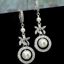 wedding earrings drop wedding earrings pearl drop earrings handmade bridal earrings