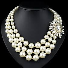 baroque style chinese fashion pearl chain necklace designs for
