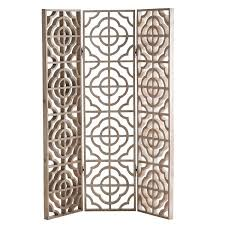 Quatrefoil Room Divider Silver Floor Screen
