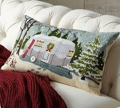 Pottery Barn Lumbar Pillow Covers 229 Best Christmas Pillows Images On Pinterest Christmas Pillow