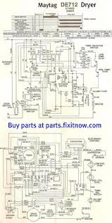 maytag lde712 dryer wiring diagram and schematic fixitnow com