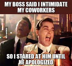 Co Worker Memes - my boss said i intimidate my coworkers humoar com