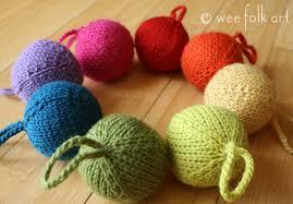 knit christmas rainbow yarn christmas ornaments wee folk