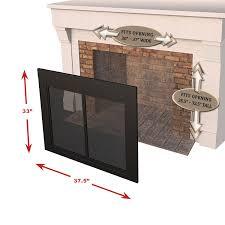 amazon com pleasant hearth an 1011 alpine fireplace glass door