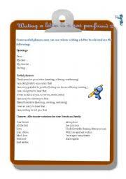 english teaching worksheets writing letters