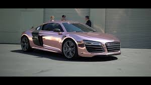 pink audi r8 tanner braungardt u0027s audi r8 reveal rose gold chrome sd wrap