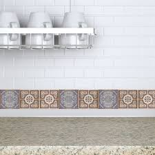 tile decals for kitchen backsplash decorative tiles stickers lisboa set of 4 tiles tile